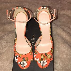 J Crew Collection Lena Ankle Strap Ratty Fruty 10